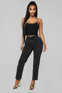 Dress To Kill Mom Jeans - Black Angle 1