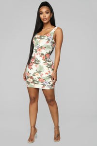 Feel The Floral Dress - Ivory/Combo