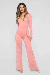 Proud Woman Wide Leg Jumpsuit - Salmon