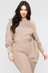 Pro Lounger Jumpsuit - Taupe