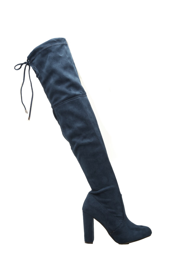 5a50cc34280 Strong Feelings Heeled Boots - Navy
