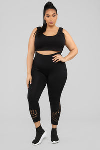 What's On Your Mind Leggings - Black