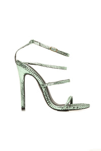 Mission Accomplished Heeled Sandals - Green