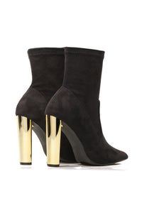 Top Of The List Booties - Black Angle 7