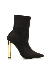 Top Of The List Booties - Black Angle 2