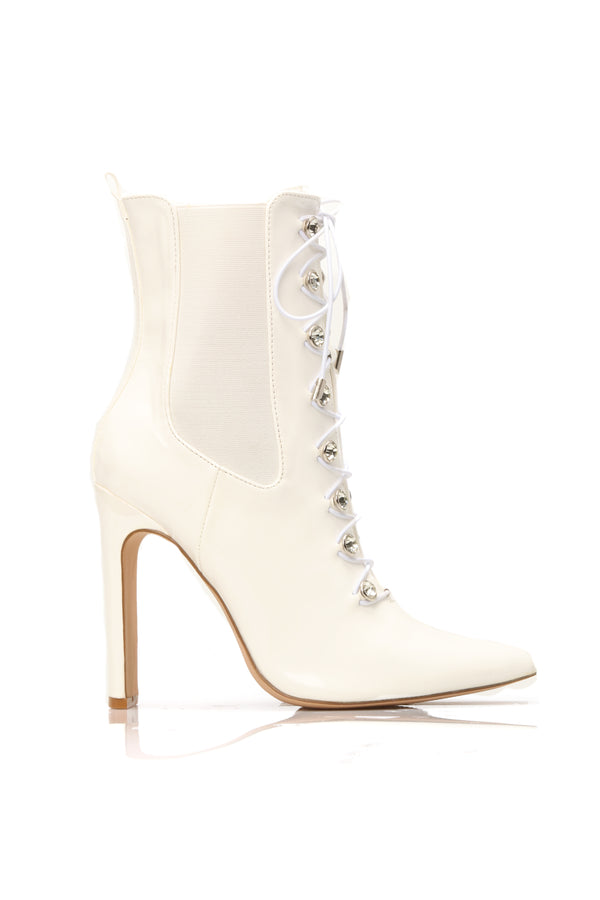0b776be5c80 Hold On Bootie - White