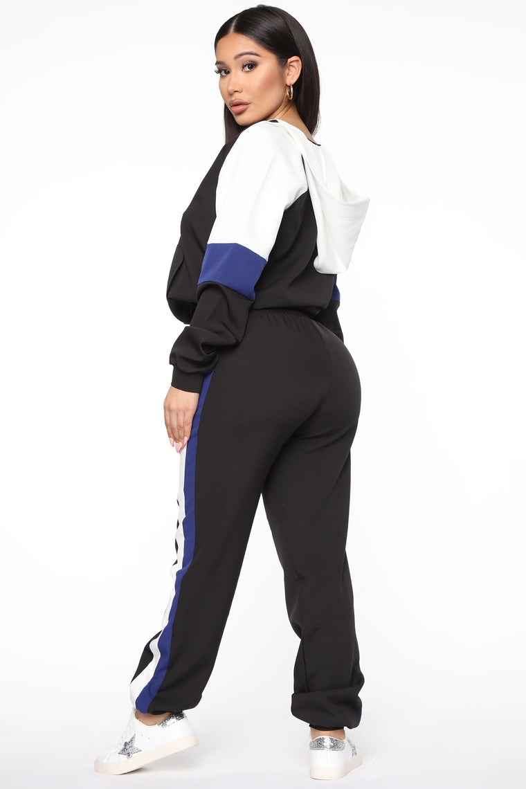 Not Sweating It Active Jogger Set - Black/Blue
