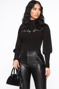 Your Forever Babe Bodysuit - Black Angle 3