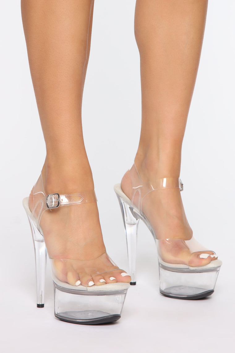 Clearly Showing Off Platform Heel