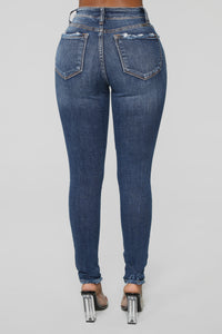 Already Over It Skinny Jeans - Medium Blue Wash