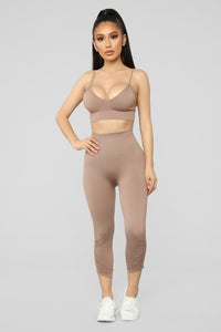 Back To Basics Sports Bra - Mocha