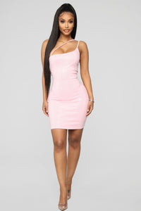 Dance Into Daylight Rhinestone Mini Dress - Pink