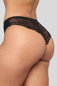 Red Hot Pursuit 3 Pack Tanga Panties - Black/Combo