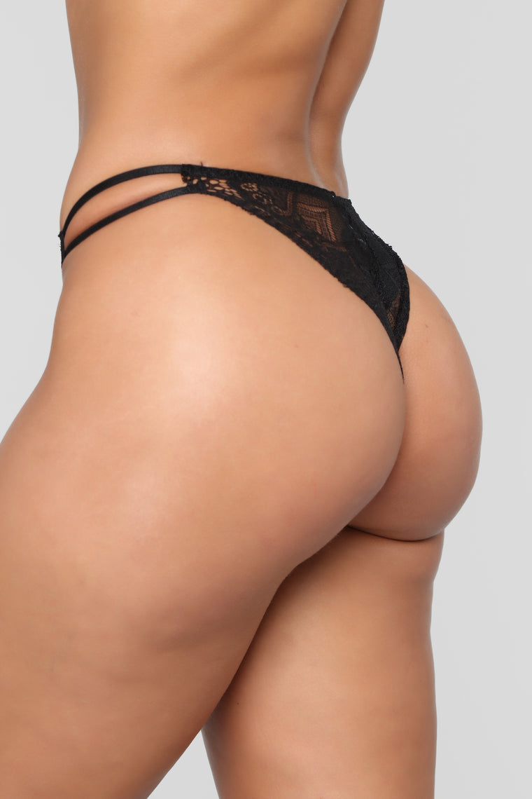 Strappy Baby 3 Pack Panties - Black/Combo