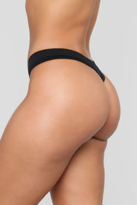 Not What It Seams 3 Pack Thongs - Black/Combo