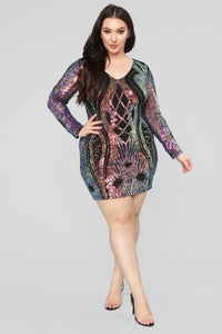 Only Girl In The World Sequin Dress - Black Angle 7