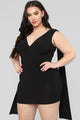 Tati Cold Shoulder Dress - Black