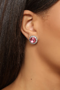 Studding On You Earrings - Pink