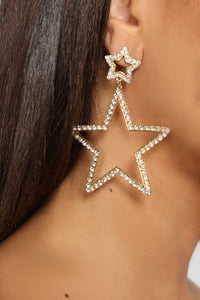 Brightest Star Earrings - Gold