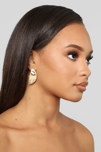 Changing Faces Earrings - Gold