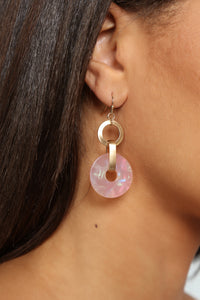 Changing Things Up Earrings - Hot Pink