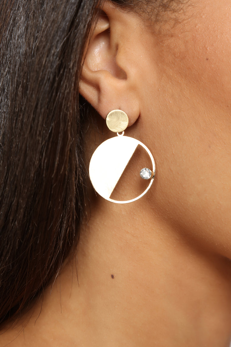 Yin and Yang Earrings - Gold