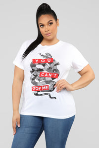 You Can't Stop Me Tee - White