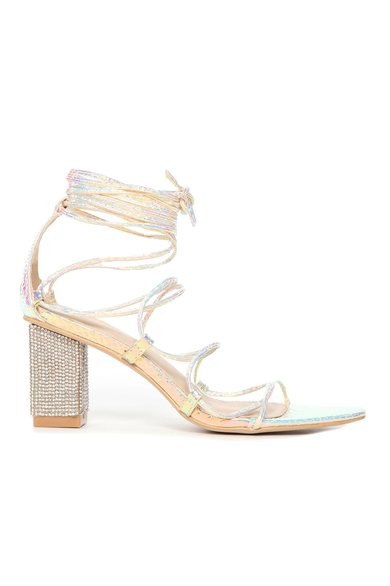 Be Dazzled Heeled Sandal - Multi