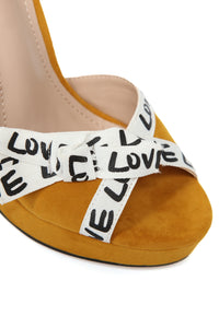 Turn Around Heeled Sandals - Mustard
