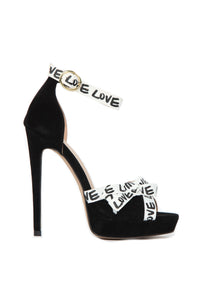 Turn Around Heeled Sandals - Black Angle 2
