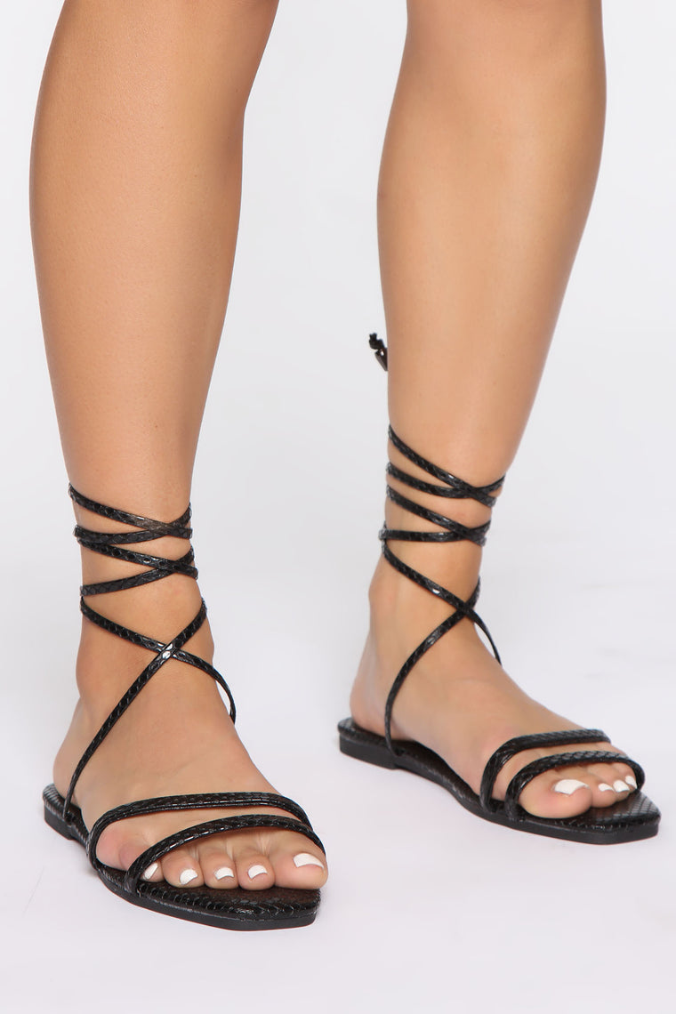 Don't Even Worry About it Sandals - Black
