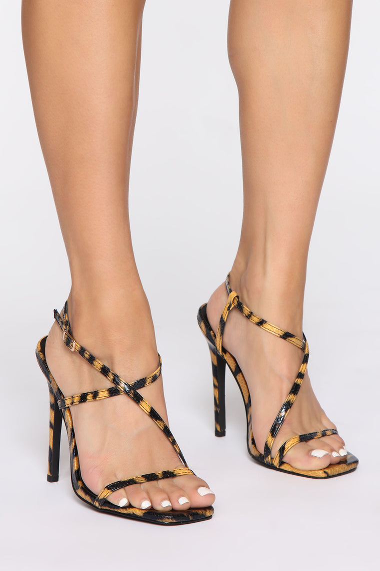 Love You So Heeled Sandals - Leopard
