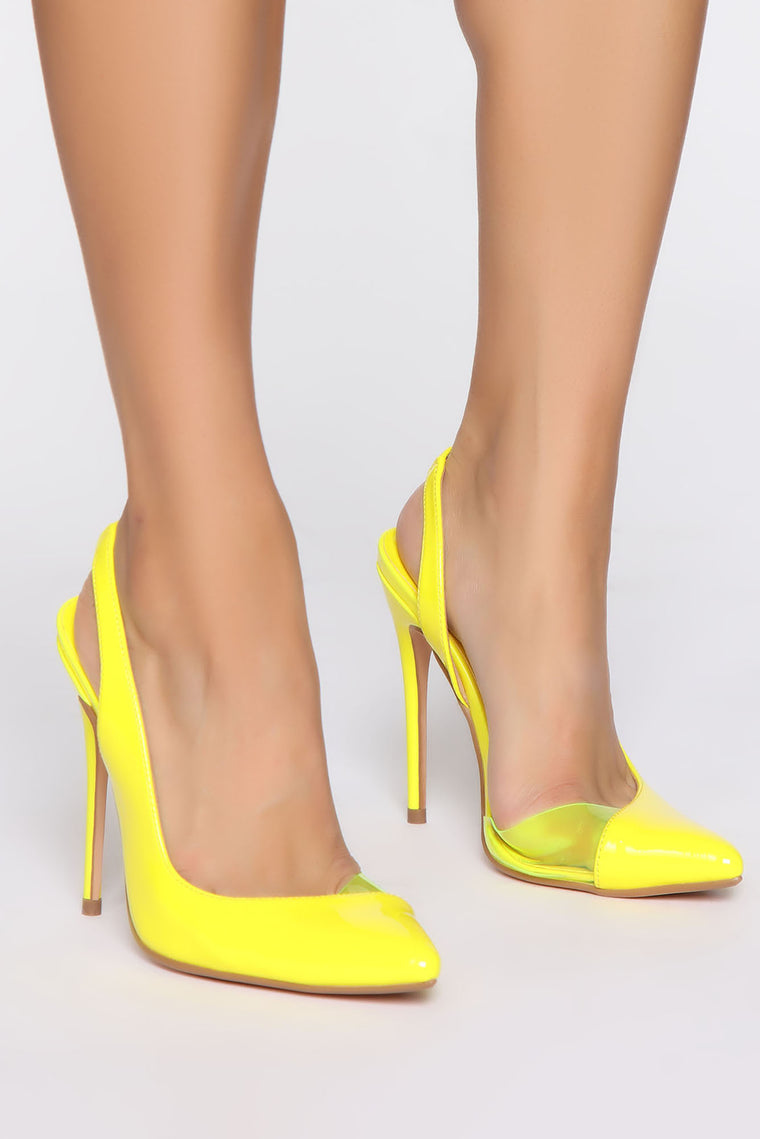 One Of A Kind Pumps - Yellow