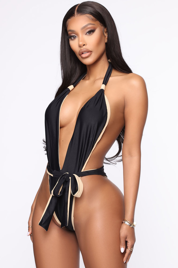 Call Me In Ibiza One Piece Swimsuit - Black/combo
