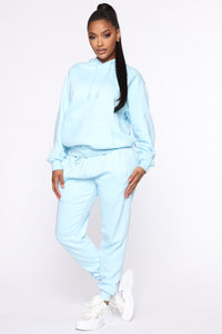 Stole Your Boyfriend's Oversized Jogger - Light Blue Angle 3