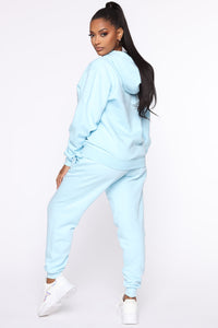 Stole Your Boyfriend's Oversized Jogger - Light Blue Angle 5