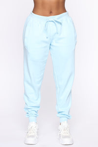 Stole Your Boyfriend's Oversized Jogger - Light Blue Angle 2