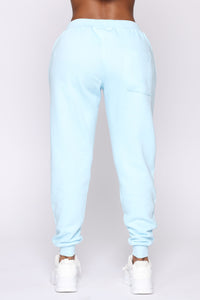 Stole Your Boyfriend's Oversized Jogger - Light Blue Angle 6