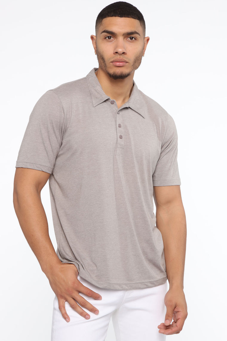 Lennon Short Sleeve Polo - Heather Grey