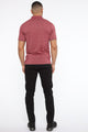 Double Vision Short Sleeve Polo - Wine