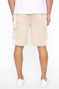 Post Cargo Short - Stone/White Angle 7