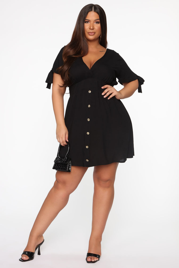 Best Kisses Mini Dress - Black