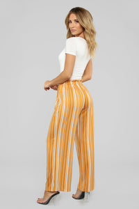 Lonely Hearts Club Striped Pants - Mustard