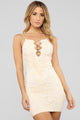 Make Him Mine Lace Dress - Ivory