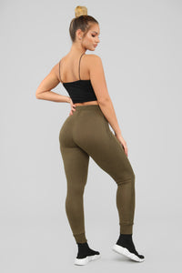 Can't Let Go Joggers - Olive