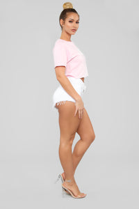 Only Champagne Crop Top - Pink