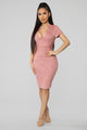 Always Ready Midi Dress - Mauve
