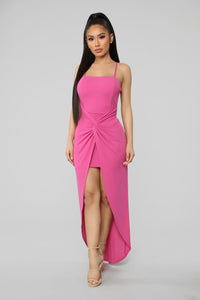 Don't Catch Feelings Maxi Dress - Fuchsia