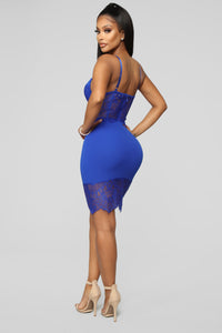 What You're Missing Midi Dress - Royal Angle 5