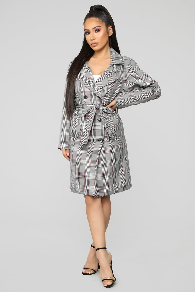 Cold Hearted Trench Jacket - Grey